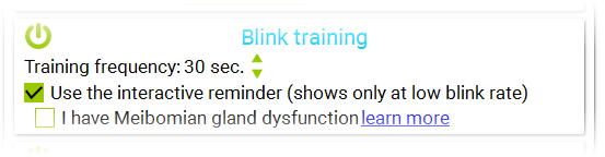 Blink training helps to alter incomplete blinks.